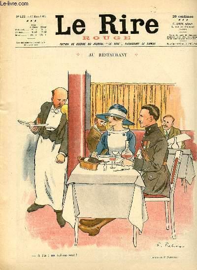 Le rire, N°122 - Série rouge - Edition de guerre - Au restaurant.