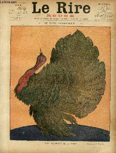 Le rire, N°142 de la série rouge - Edition de guerre - Le paon germanique.