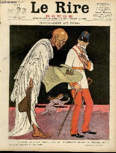 Le rire, N°181 de la série rouge - edition de guerre - François-Joseph aux enfers.