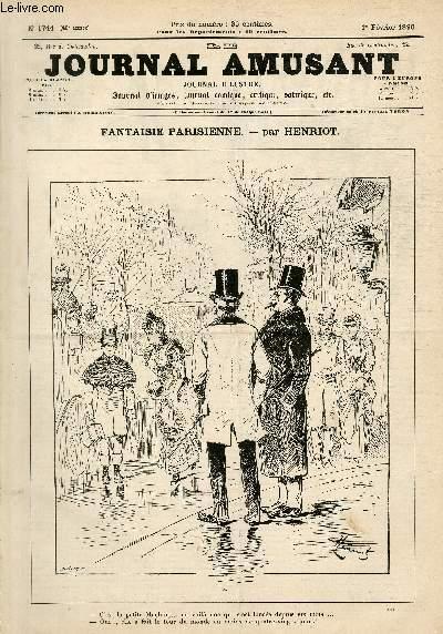 Le Journal amusant N°1744, Fantaisie parisienne.