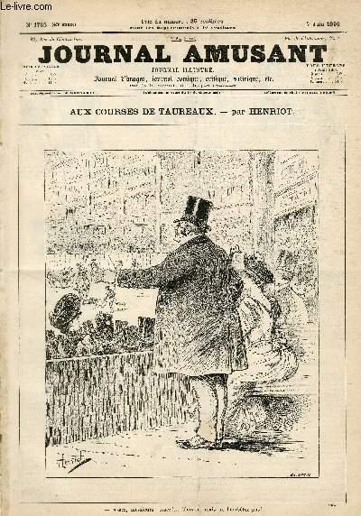 Le Journal amusant N°1762, Aux courses de taureaux.