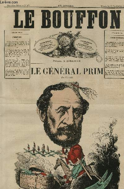 Le Bouffon - 2è série, N°85 - Le général Prim