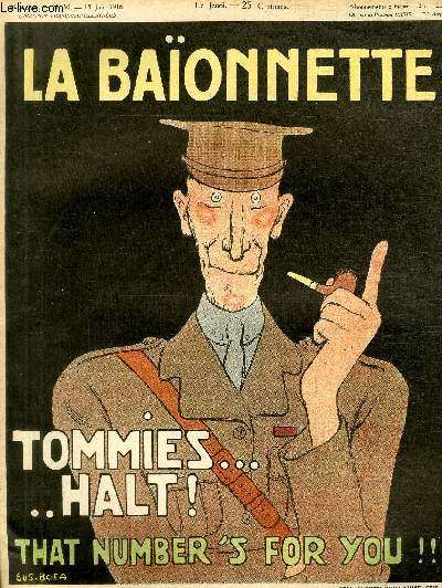 La Baïonnette, 2è série, N°50, N° spécial, Les Tommies.