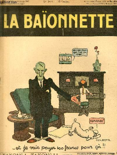 La Baïonnette, 2è série, N°85, Taxons! Taxons!