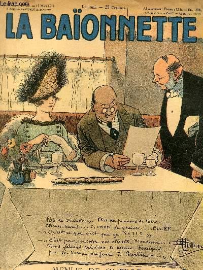 La Baïonnette, 2è série, N°89, Menus de guerre.