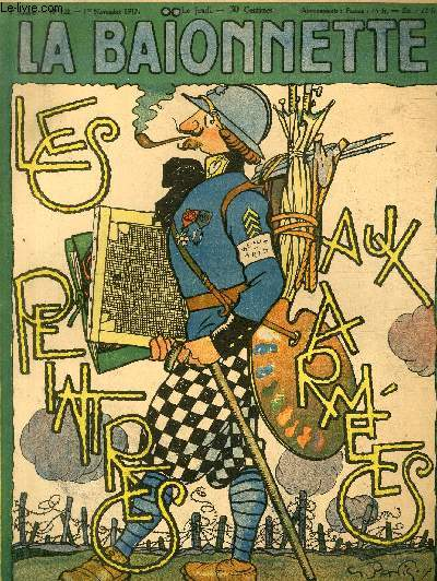 La Baïonnette, 2è série, N°122, Les peintres aux armées.