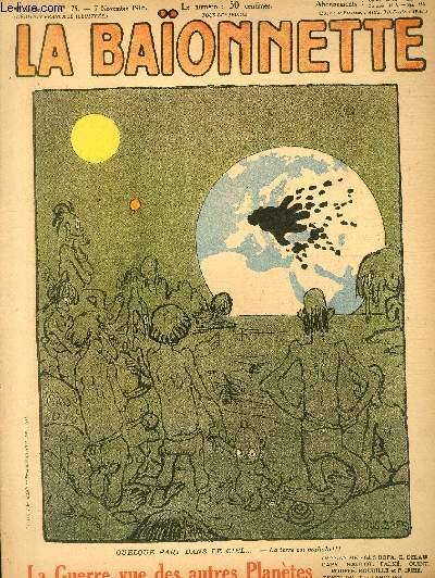 La Baïonnette, 2è série, N°175 - La guerre vue des autres planètes