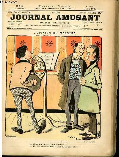 Le journal amusant - nouvelle série N°149. L'opignon de maëstro