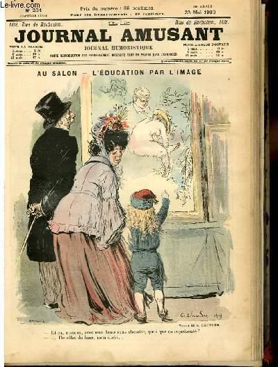Le journal amusant - nouvelle série N°204 - Au salon - L'éducation par l'image.