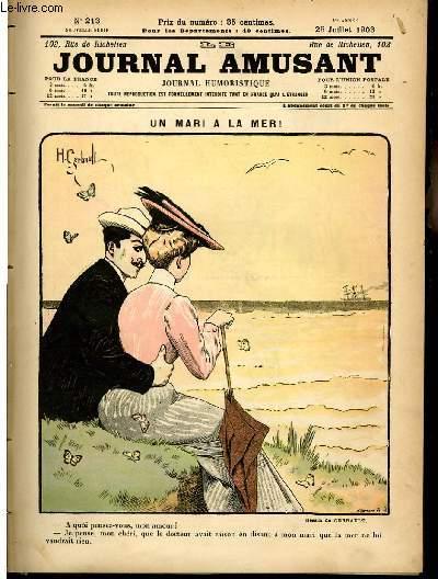 Le journal amusant - nouvelle série N°213 - Un mari à la mer.