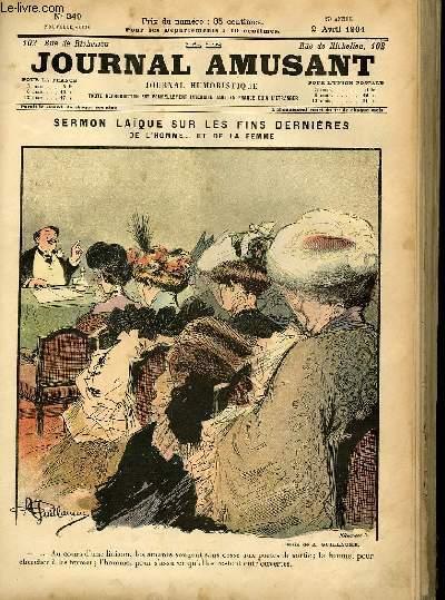 Le journal amusant - nouvelle série N°249 - Sermon laïque sur les fins dernières de l'homme... et de la femme.
