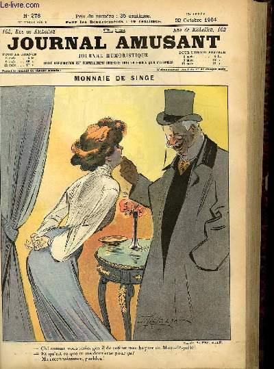 Le journal amusant - nouvelle série N°278. Monnaie de singe