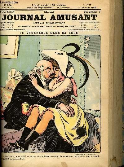 Le journal amusant - nouvelle série N°294. Le vénérable dans sa loge