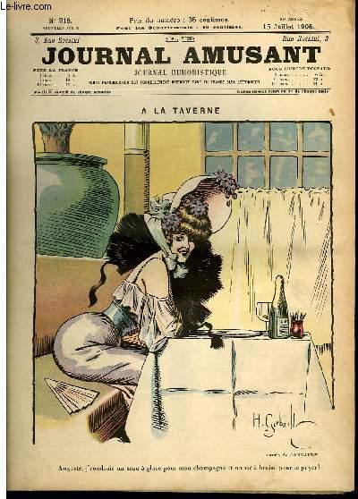Le journal amusant - nouvelle série N°316. A la taverne