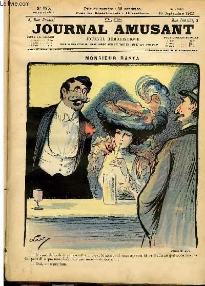 Le journal amusant - nouvelle série N°325. Monsieur rasta