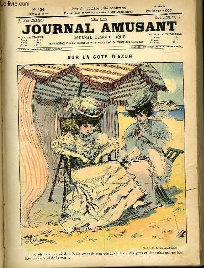 Le journal amusant - nouvelle série N°404. Sur la cote d'azur