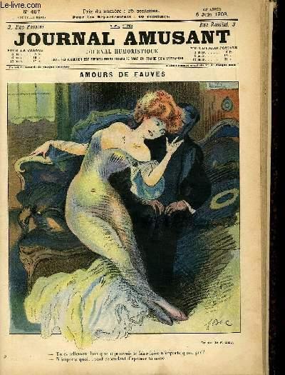 Le journal amusant - nouvelle série N°467. Amours de fauves