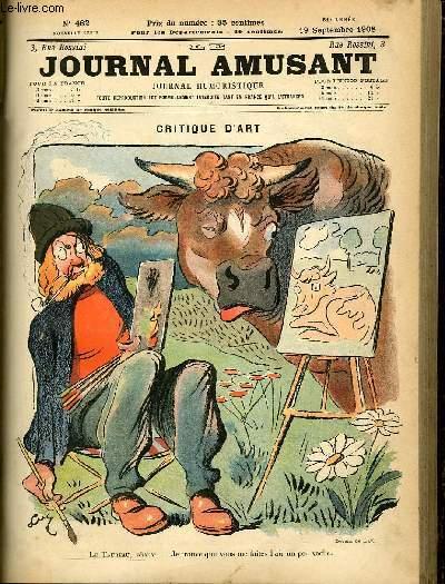 Le journal amusant - nouvelle série N°482. Critique d'art