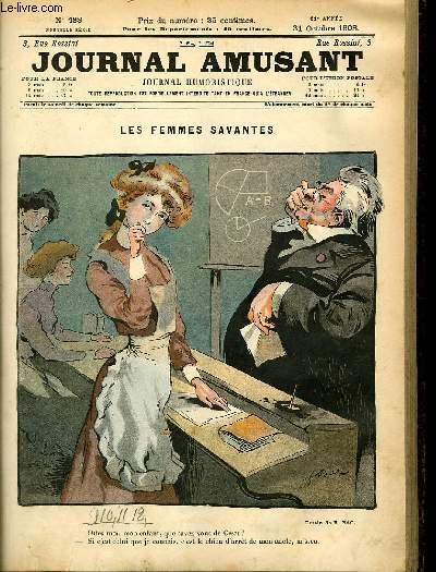 Le journal amusant - nouvelle série N°488. Les femmes savantes