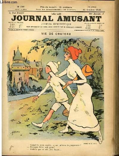 Le journal amusant - nouvelle série N°538. Vie de chateau
