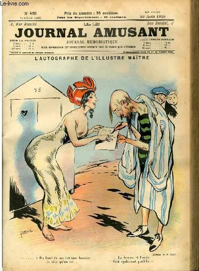 Le journal amusant - nouvelle série N°582. L'autographe de l'illustre maître