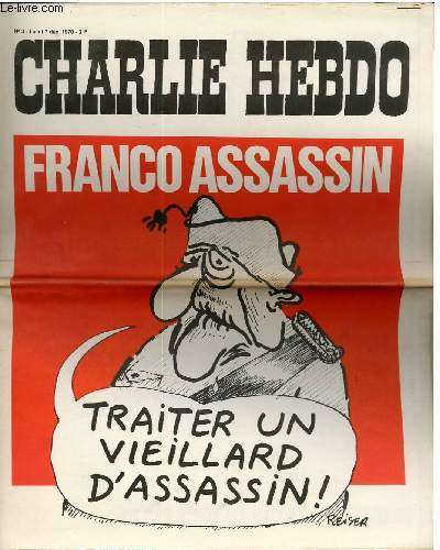 CHARLIE HEBDO N°3 - FRANCO ASSASSIN