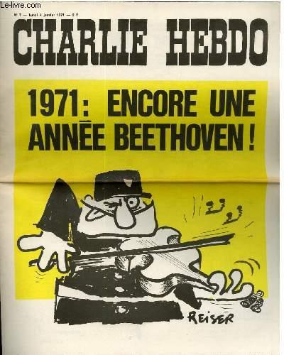 CHARLIE HEBDO N°7 - 1971 : ENCORE UNE ANNEE BEETHOVEN