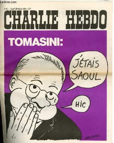 CHARLIE HEBDO N°14 - TOMASINI