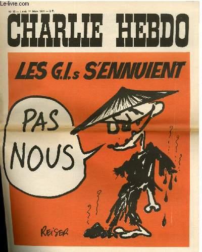 CHARLIE HEBDO N°15 - LES G.I.s S'ENNUIENT