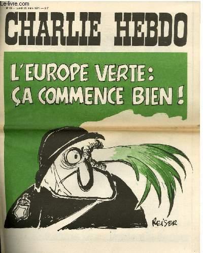 CHARLIE HEBDO N°19 - L'EUROPE VERTE : CA COMMENCE BIEN§