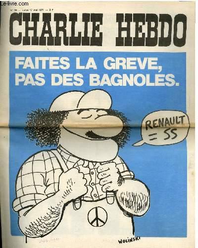 CHARLIE HEBDO N°26 - FAITES LA GREVE, PAS DES BAGNOLES !