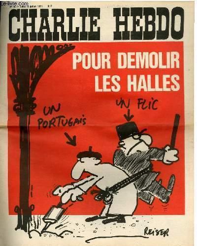 CHARLIE HEBDO N°33 - POUR DEMOLIR LES HALLES
