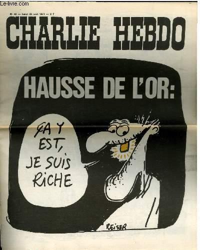 CHARLIE HEBDO N°40 - HAUSSE DE L'OR
