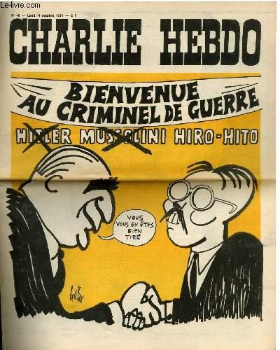 CHARLIE HEBDO N°46 - BIENVENUE AU CRIMINEL DE GUERRE - HIRO-HITO