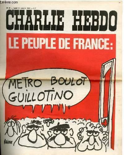 CHARLIE HEBDO N°47 - LE PEUPLE DE FRANCE
