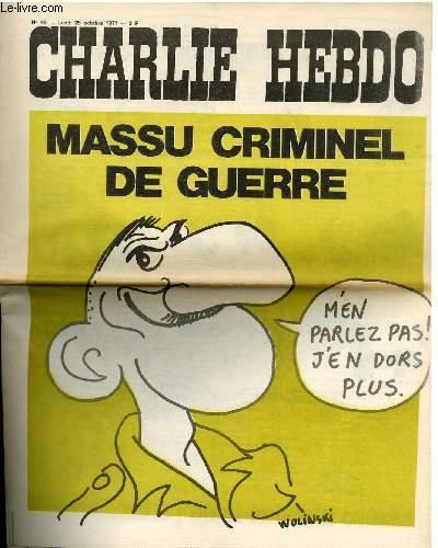 CHARLIE HEBDO N°49 - MASSU CRIMINEL DE GUERRE
