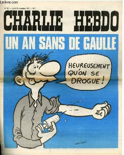 CHARLIE HEBDO N°51 - UN AN SANS DE GAULLE