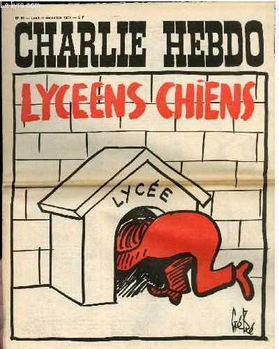 CHARLIE HEBDO N°55 - LYCEENS CHIENS