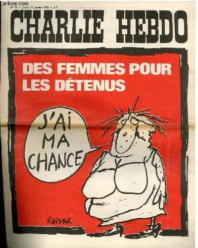 CHARLIE HEBDO N°61 - DES FEMMES POUR LES DETENUS