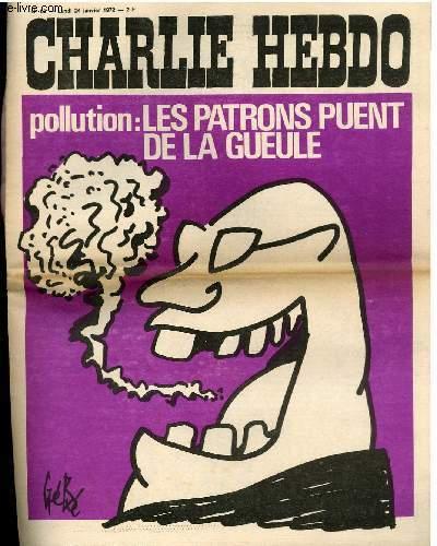 CHARLIE HEBDO N°62 - POLLUTION : LES PATRONS PUENT DE LA GUEULE