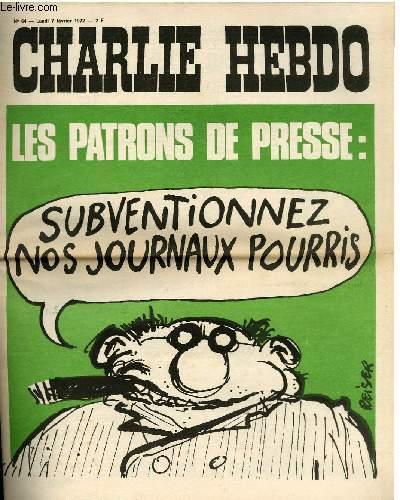 CHARLIE HEBDO N°64 - LES PATRONS DE PRESSE