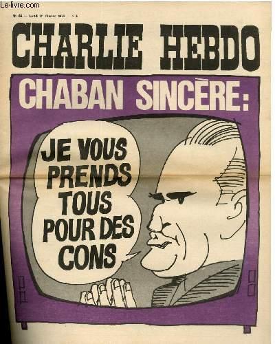 CHARLIE HEBDO N°66 - CHABAN SINCERE