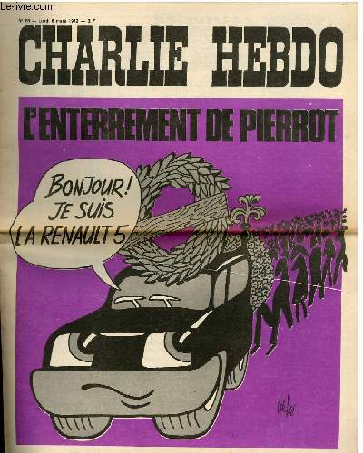 CHARLIE HEBDO N�68 - L'ENTERREMENT DE PIERROT