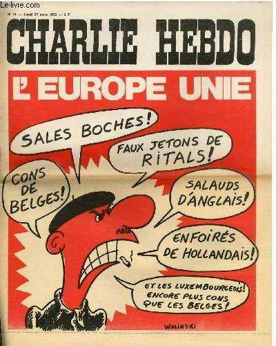 CHARLIE HEBDO N°71 - L'EUROPE UNIE