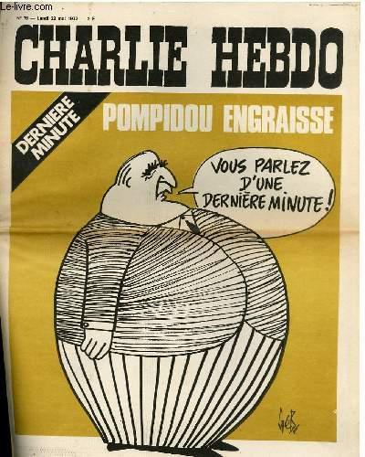 CHARLIE HEBDO N°79 - POMPIDOU ENGRAISSE