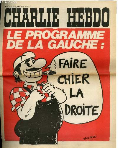 CHARLIE HEBDO N°85 - LE PROGRAMME DE LA GAUCHE