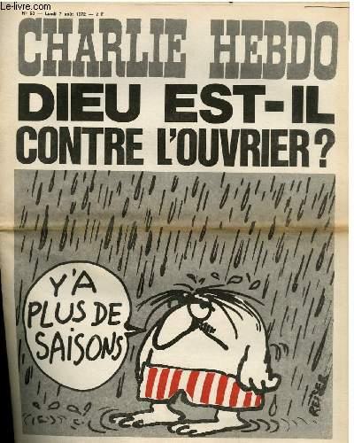 CHARLIE HEBDO N°90 - DIEU EST-IL CONTRE LES OUVRIERS