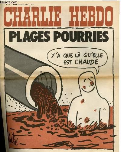 CHARLIE HEBDO N°91 - PLAGES POURRIES