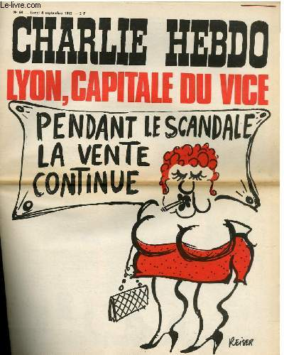 CHARLIE HEBDO N°94 - LYON CAPITALE DU VICE