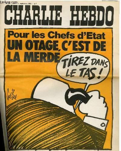 CHARLIE HEBDO N°95 - POUR LES CHEFS D'ETAT, UN OTAGE, C'EST DE LA MERDE